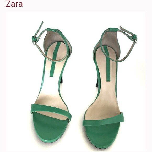 Zara green strappy stiletto